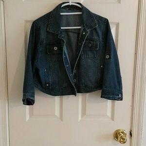 Cute cropped jean jacket